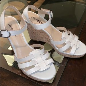 Lucky Brand Leather Nude Wedges